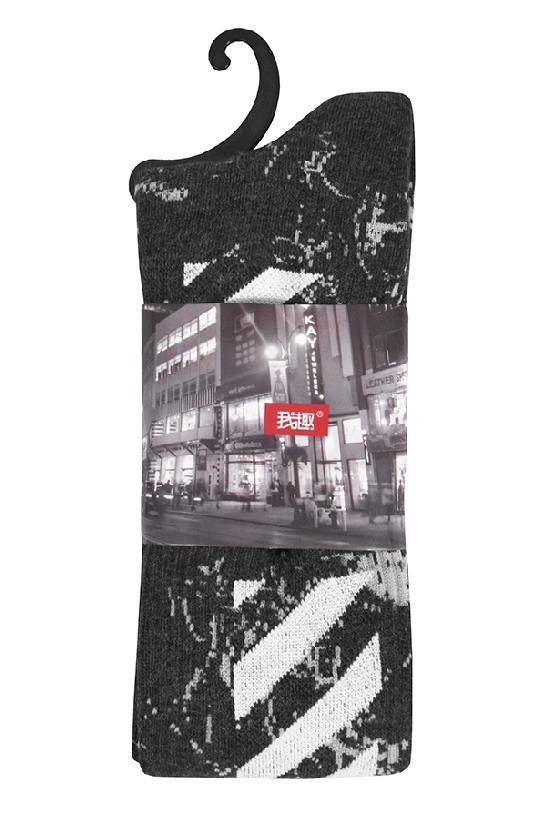 Носки / Street Socks / White Off / чёрный /  (One size)