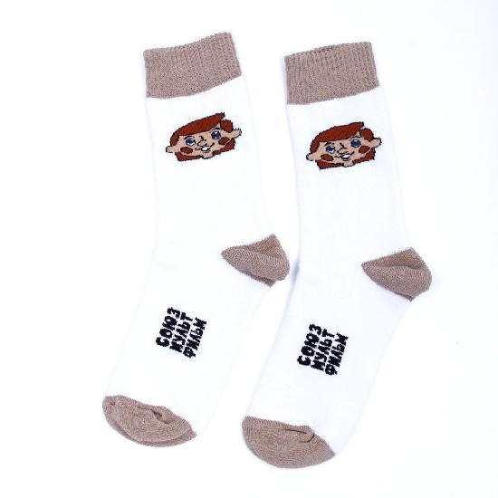 Носки ЗАПОРОЖЕЦ Дядя Фёдор (махровые) (Белый (Белый), O/S)