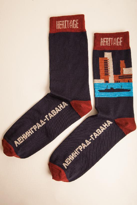 Носки ЗАПОРОЖЕЦ HERITAGE Ленинград-Гавана (Синий (Темно-Синий)