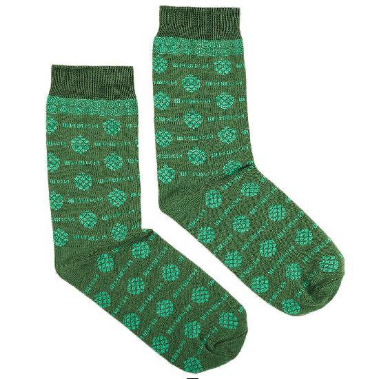 Носки ЗАПОРОЖЕЦ Шишки 2 (Зеленый (Хаки) O/S)