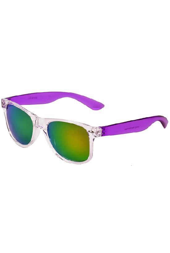 Очки / Street Style / JHTDM 1028 С-6 Wayfarer Glassy/ прозр. с фиол. дуж.