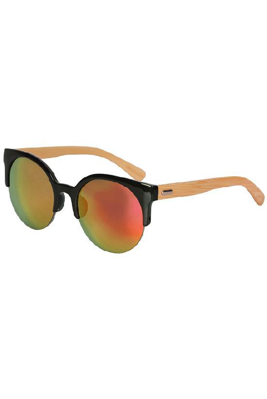 Очки / Woody / WPB1035M-5 Clubmaster / чёрный с жёлто-оранж. линзами