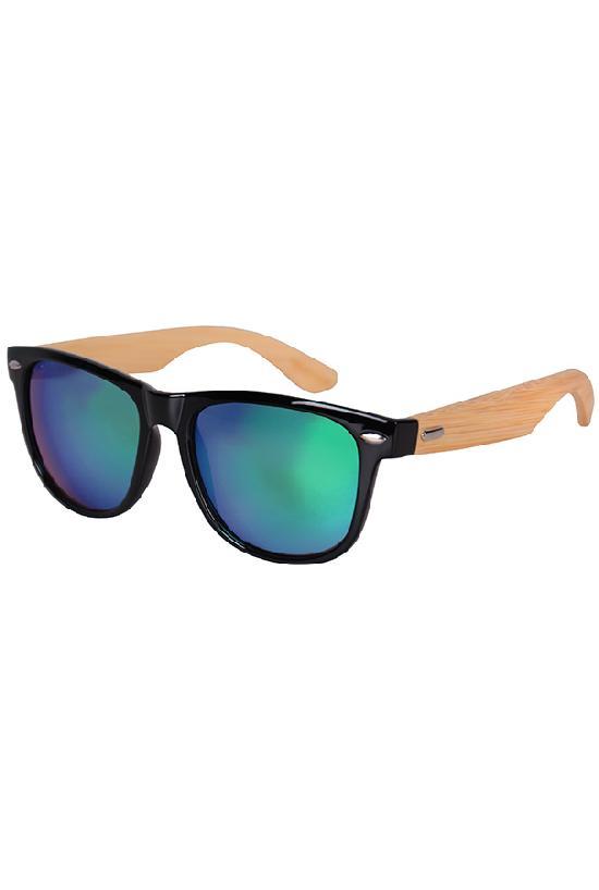 Очки / Woody / 313-MC-1 Hipster / чёрный с сине-зелёными линзами