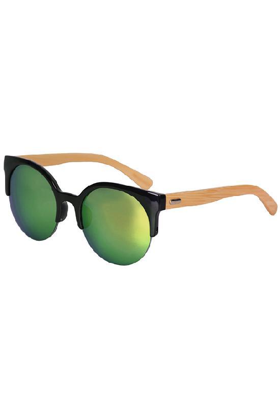 Очки / Woody / WPB1035M-3 Clubmaster / чёрный с зелёными линзами