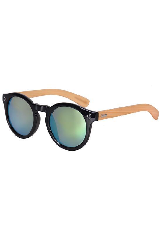 Очки / Woody / 4023 MC-3 Fashion / чёрный с зелёными линзами