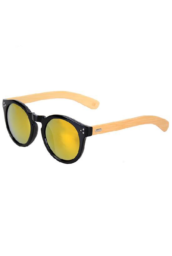 Очки / Woody / 4023 MC-5 Fashion / чёрный с жёлто-оранжевыми линзами