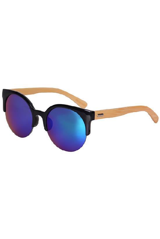 Очки / Woody / WPB1035M-4 Clubmaster / чёрный с синими линзами