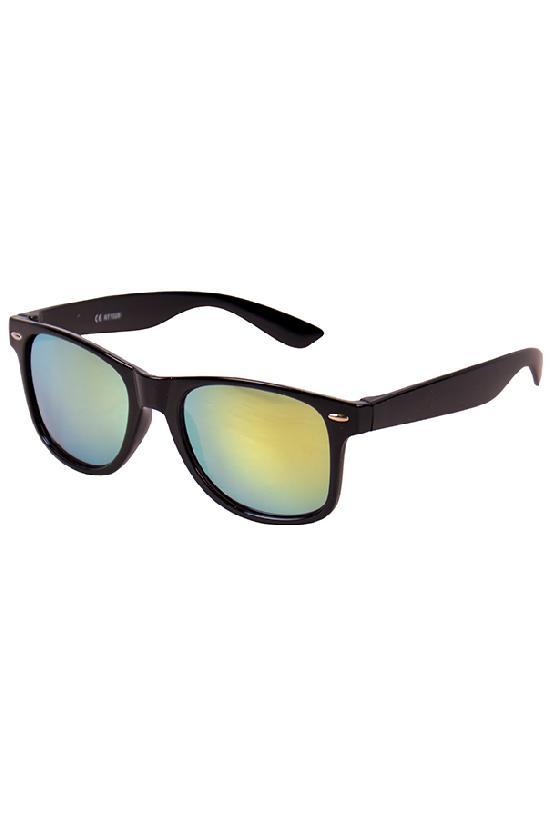 Очки / Street Style / JHM 1028 С-3/ чёрный с жёлтыми линзами