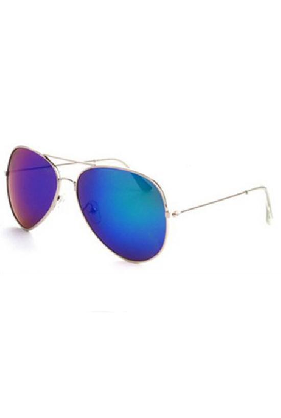 Очки / Police /  C-1 Security / серебряный с сине-зелёными линзами