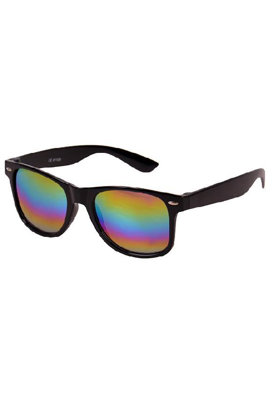 Очки / Street Style / JHM 1028 С-8/ чёрный с радужными линзами