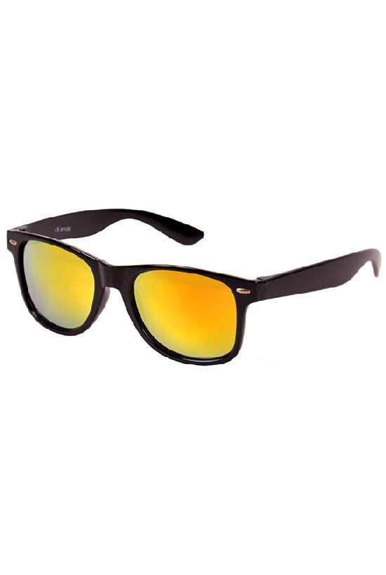 Очки / Street Style / JHM 1028 чёрный с жёлто-оранжевыми линзами