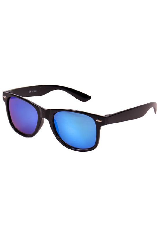 Очки / Street Style / JHM 1028 С-4/ чёрный с тёмно-синими линзами