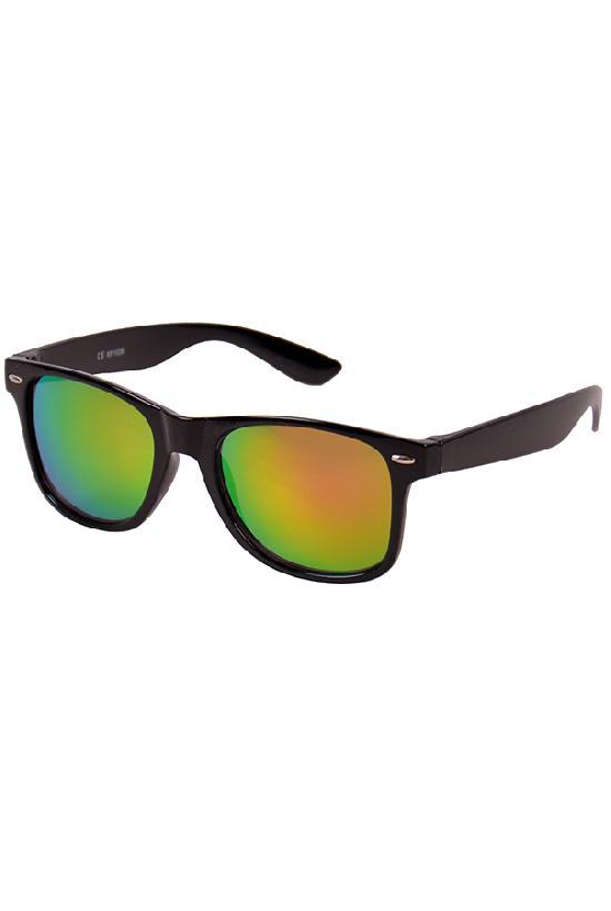 Очки / Street Style / JHM 1028 С-6/ чёрный с розово-жёлтыми линзами