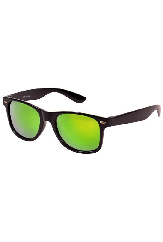 Очки / Street Style / JHM 1028 С-1/ чёрный с сине-зелёными линзами