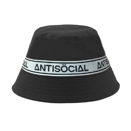 Панама черная bucket stripes (antisocial)