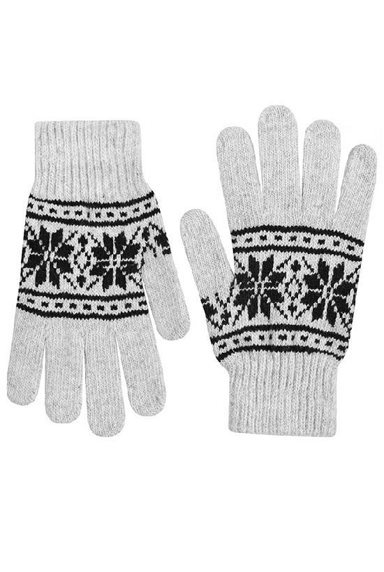 Перчатки / Winter / Морозный узор / светло-серый /  (One size)