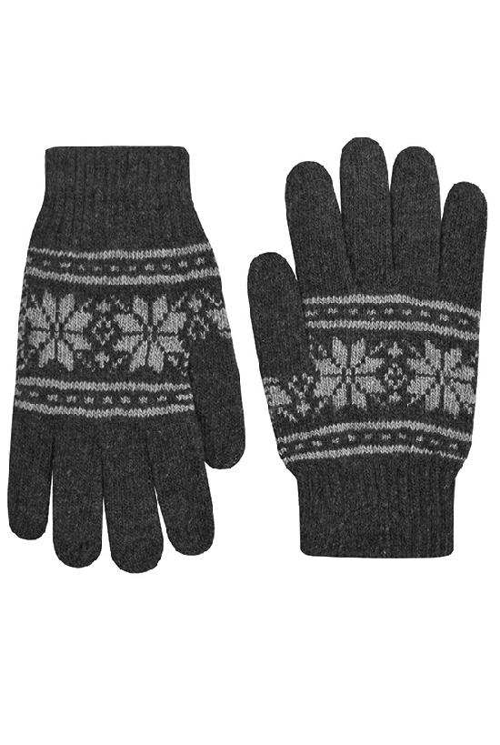 Перчатки / Winter / Морозный узор / тёмно-серый /  (One size)