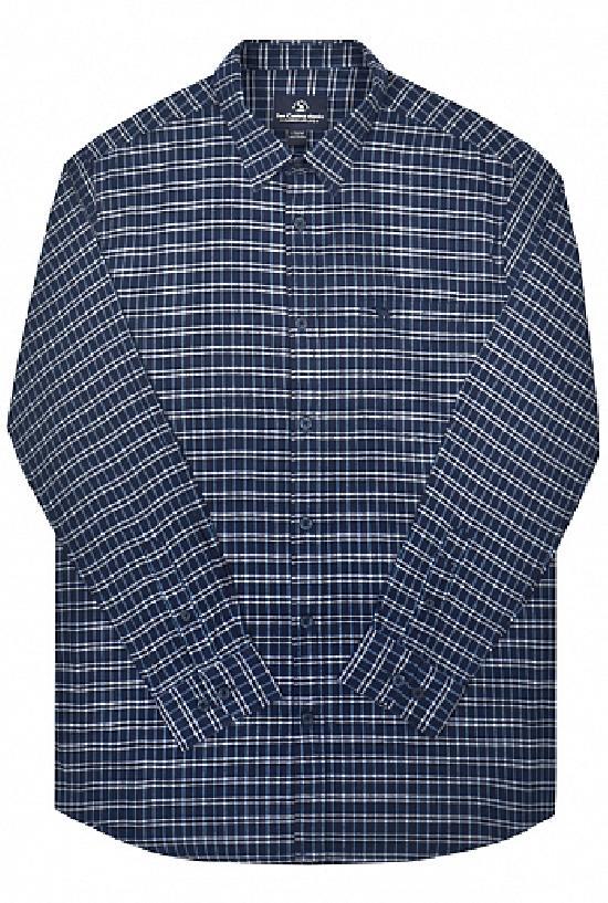 Рубашка / Camel Can Torp / Клетка 1300 / тёмно-сине-белый