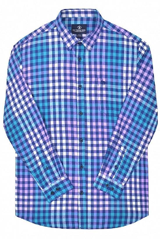 Рубашка / Camel Can Torp / Клетка 1333 / голубо-сиреневый