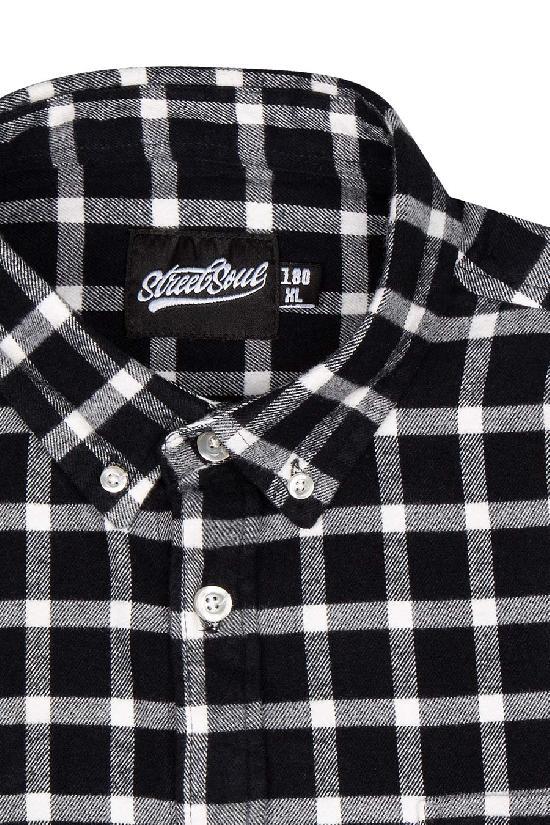 Рубашка мужская / Street Soul / Клетка 0146 / чёрно-белый