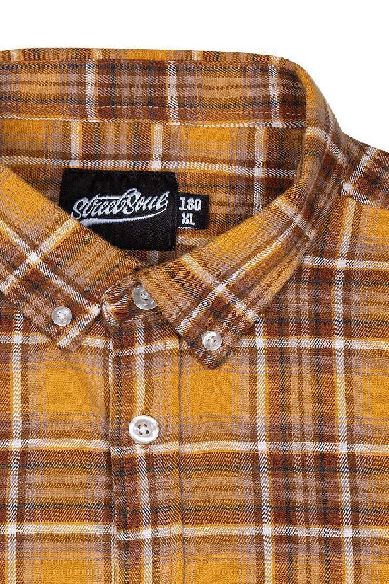 Рубашка мужская / Street Soul / Клетка 0135 / жёлто-коричневый
