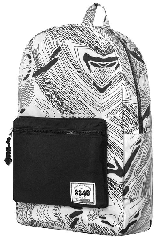 Рюкзак / 8848 / C054-12 Чёрные полоски/ серый с чёрным карманом