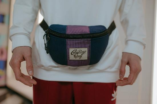 Поясная сумка SKFN Cross (синий/фиолет)