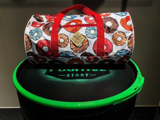 Сумка дорожная duffle bags (пончики)