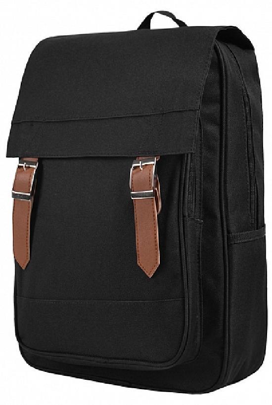 Рюкзак / Jeans / 907 Крышка с строчкой и два ремня / чёрный