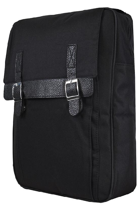 Рюкзак / Jeans / 865-П Два ремня на шагреневой коже/ чёрный