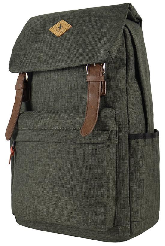 Рюкзак / Desteny Favor / 6003 Два ремня и карман с козырьком/ тёмно-зелёный