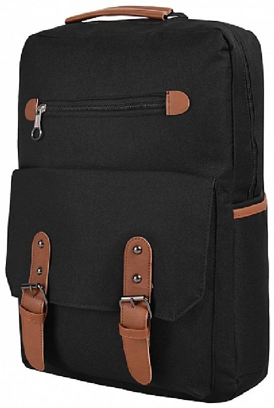 Рюкзак / Jeans / 908 Застёжка и два ремня 39х12х28 см / чёрный