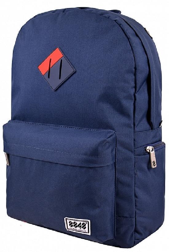 Рюкзак / 8848 / S15004-7 Пятачок/ тёмно-синий с красным углом