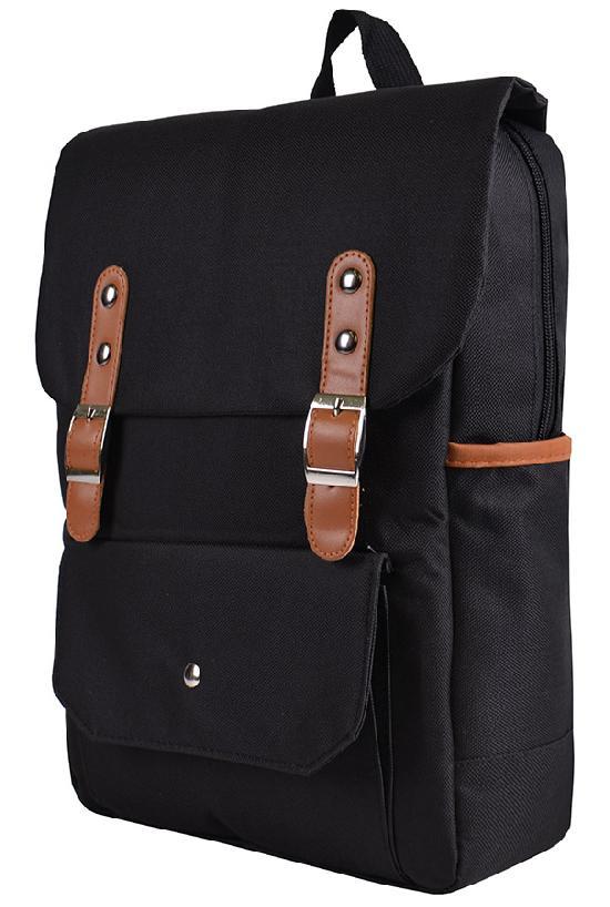 Рюкзак / Jeans / 887 Два ремня и карман с кнопкой / чёрный