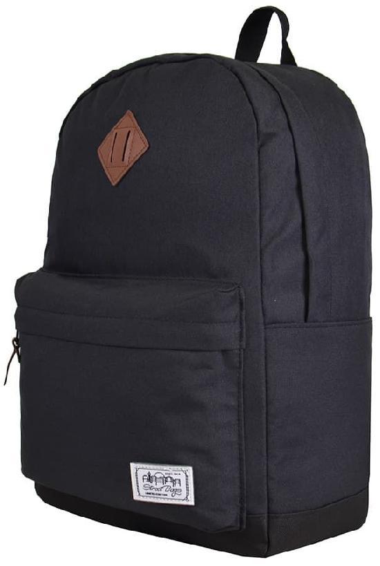 Рюкзак / Street Bags / 7218 Кожаная розетка и чёрное дно/ чёрный