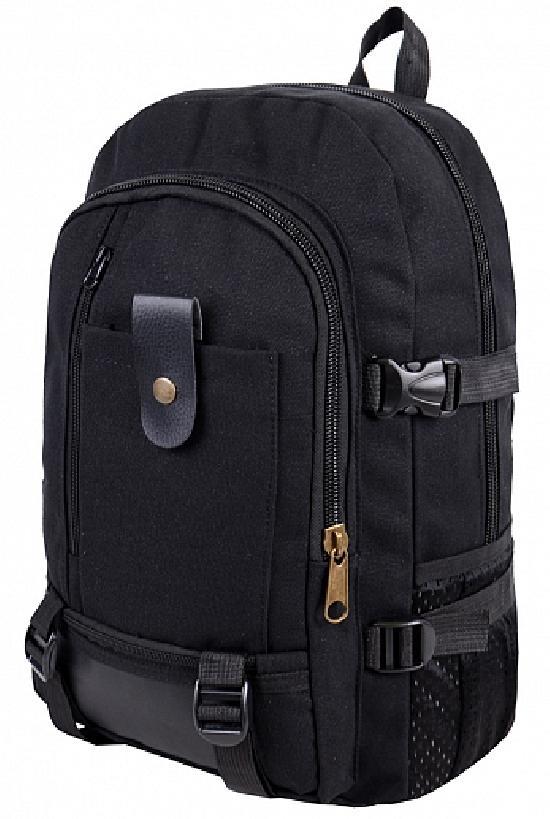 Рюкзак / RRX / 819 Кожаный язычок  / чёрный