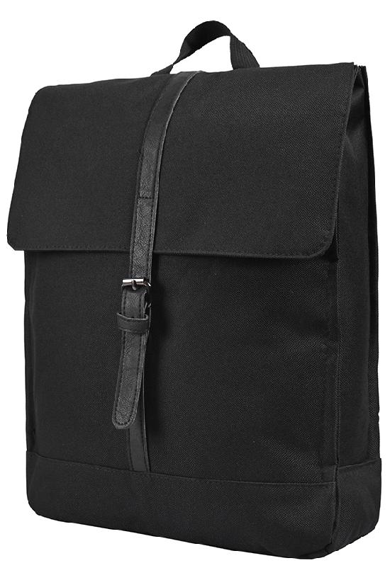 Рюкзак / Jeans / 888 Крышка с одним ремнём 40х11х32 см / чёрный