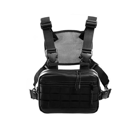 Нагрудная сумка ТАЙНА экокожа черный