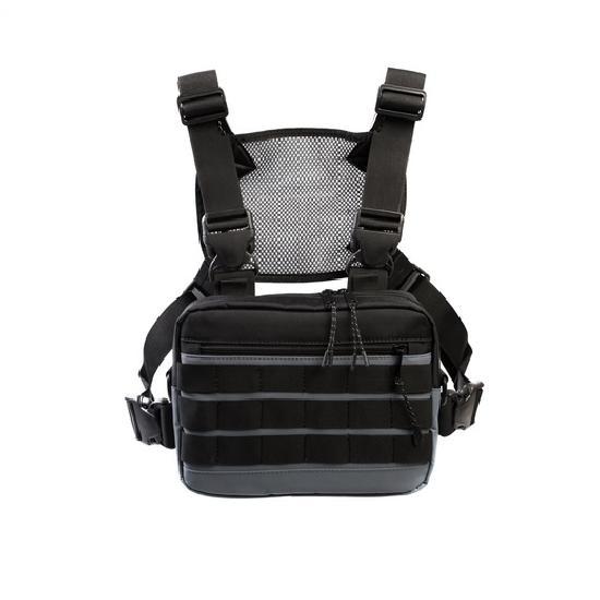Нагрудная сумка ТАЙНА таслан серая/черная