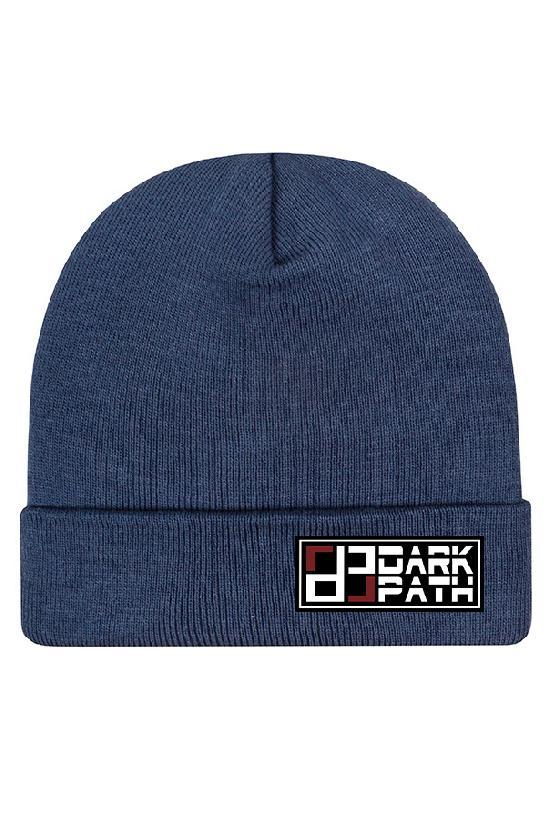 Шапка / DARK PATH / Классическая шапка-бини 29 см / серо-голубой