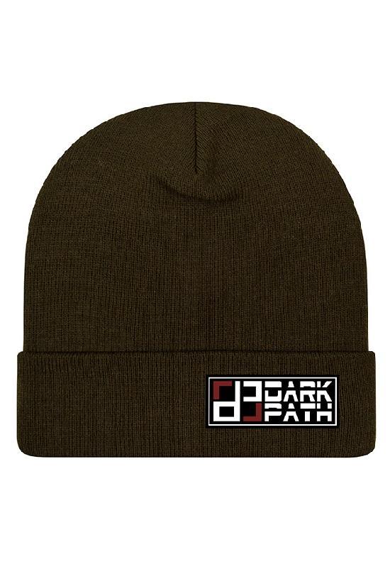 Шапка / DARK PATH / Удлиненная шапка-бини 31 см / тёмно-оливковый