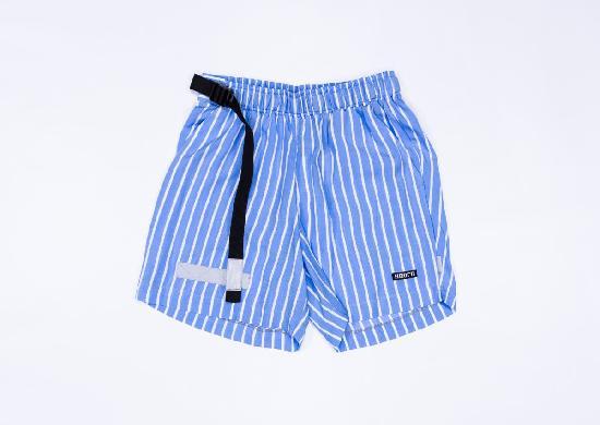НПОГП VISUAL VANDAL (Короткие шорты Тельняшка голубая-белая