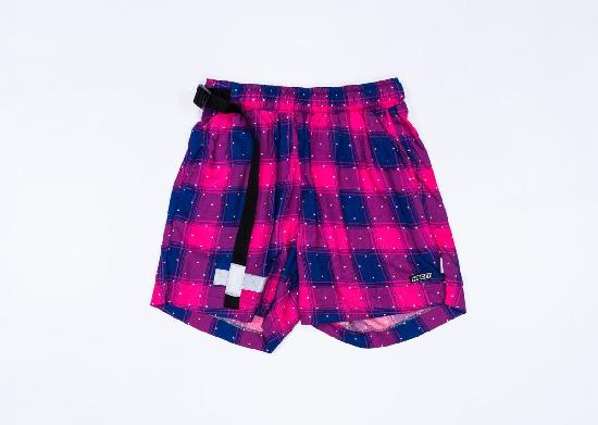 НПОГП VISUAL VANDAL (Короткие шорты Клетка красно-синяя)