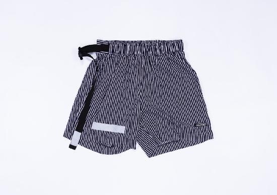 НПОГП VISUAL VANDAL (Короткие шорты Тельняшка бело-черная)