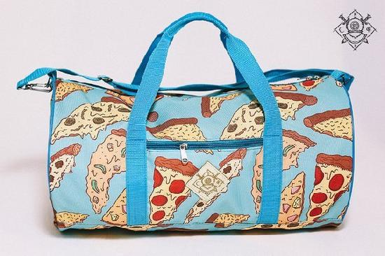 Сумка дорожная duffle bags (пицца)