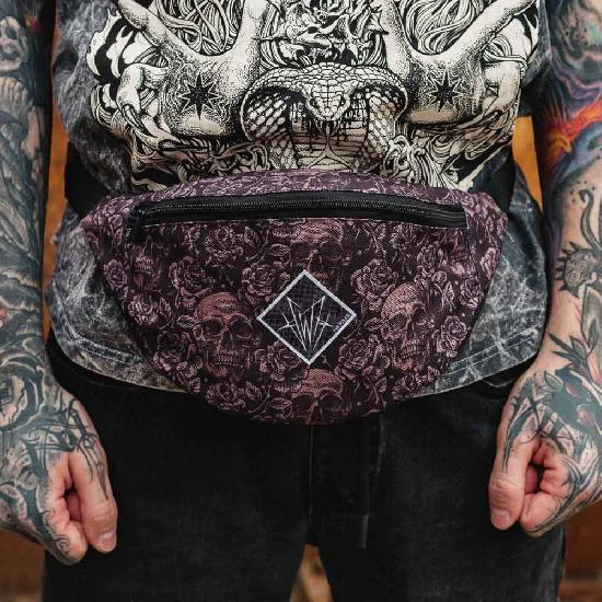 Поясная сумка HH Wear Rose&Scull
