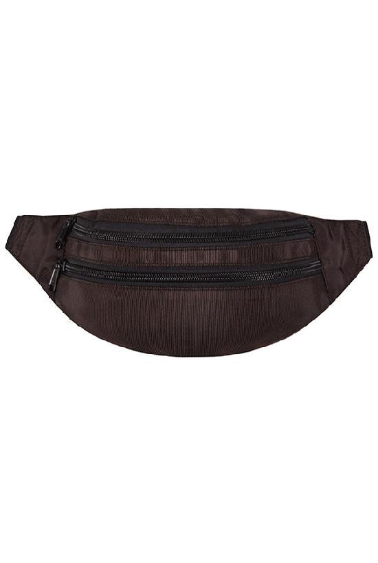 Сумка на пояс / Street Bags / SB-002-NN / тёмно-коричне