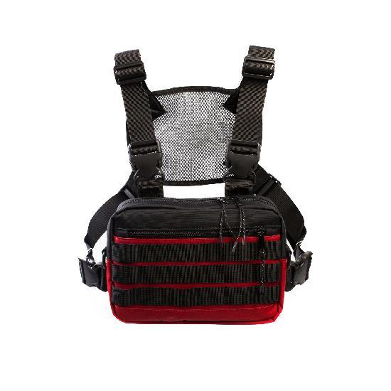 Нагрудная сумка ТАЙНА таслан красно/чёрная
