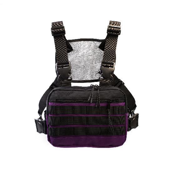 Нагрудная сумка ТАЙНА таслан бордо/чёрная