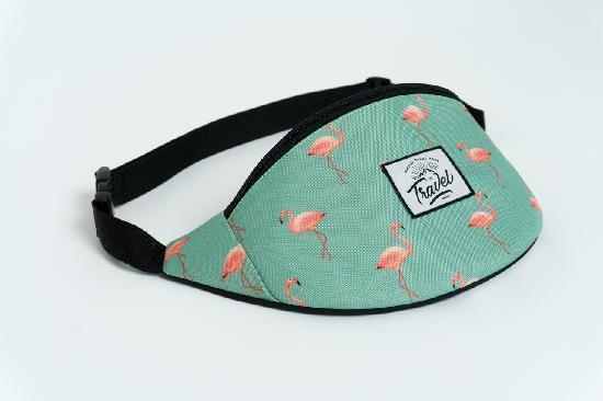 Сумка Travel (зеленый/фламинго)